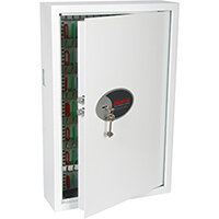 Phoenix Cygnus Key Deposit Safe KS0033K With 144 Key Hooks Key Lock & Deposit Slot White