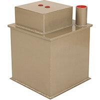 Phoenix Tarvos UF0663KD 12'' 25L 6K Underfloor Security Safe with Key Lock & Deposit Slot Gold