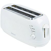 Igenix 4 Slices Long Toaster White
