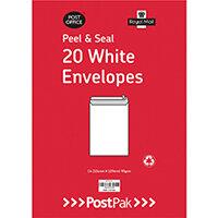 Envelopes C4 Peel & Seal White 90Gsm Pack of 20 POF27421
