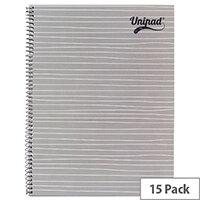 Pukka Unipad Spiral Notepad A4 Pack of 15 USP80
