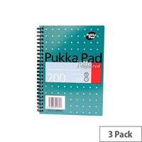 Pukka Pad A5 Wirebound Square Jotta Notepad 3 Pack JM021SQ