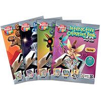 Pukka Fun Assorted Interactive Colour Books Pack of 4 8608-FUN