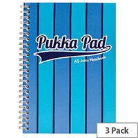 Pukka Pad Vogue Wirebound Jotta Pad A5 Blue Pack of 3 8544-VOG