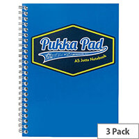 Pukka Pad Vision Wirebound Jotta Pad A5 Blue Pack of 3 8616-VIS