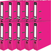 Pukka Brights Lever Arch File A4 Pink Pack of 10 BR-7764