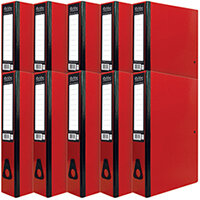 Pukka Brights Box File Foolscap Red Pack of 10 BR-7774