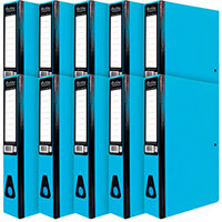 Pukka Brights Box File Foolscap Blue Pack of 10 BR-7777