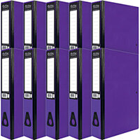 Pukka Brights Box File Foolscap Purple Pack of 10 BR-7778