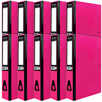 Pukka Brights Box File Foolscap Pink Pack of 10 BR-7780