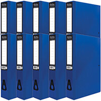 Pukka Brights Box File Foolscap Navy Pack of 10 BR-7998