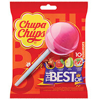Chupa Chups The Best Of Lollipops Pack of 10 8401976