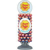 Chupa Chups Sugar Free Lollipops Slim Wheel Pack of 120 8403362