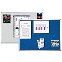 Franken Blue Felt Pin Board PRO Aluminium Frame 1200x900mm PT830303
