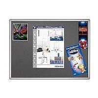 Double Sided Felt Notice Board 1200 x 900mm Franken Pro Partition System Grey