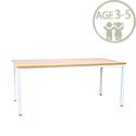 Rectangular Pre School Table White Frame 1200x600x500mm