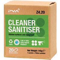 PVA Fragranced Cleaner Sanitiser Sachets Pack of 20 PVAB4-20