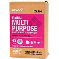 PVA Hard Surface Cleaner Sachets Aqua Pack of 100 PVAA3-100