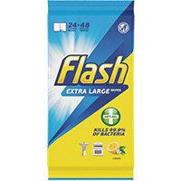 Flash Anti-Bacterial Wipes XL Lemon 24 sheets Pack of 8 C002500