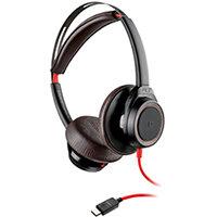 Poly Blackwire 7225 BW7225 Headset USB-C Corded Black WW 211145-01