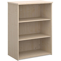Universal bookcase 1090mm high with 2 shelves - maple