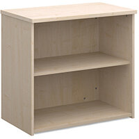 Universal bookcase 740mm high with 1 shelf - maple