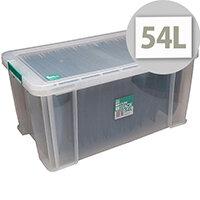 StoreStack 54 Litre Box Clear W640 x D380 x H310mm RB77234