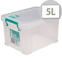 StoreStack 5 Litre Box Clear W260xD190xH150mm RB90120