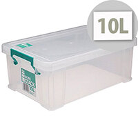 StoreStack 10 Litre Storage Box Clear W400xD255xH150mm RB90123