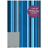 Regent Packaged Wrap Blue Stripe Pack of 12 F407