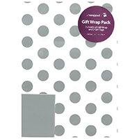 Regent Packaged Wrap Silver Spots Pack of 12 F746