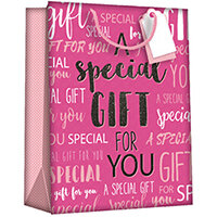 Regent Gift Bags Wordy Pink Large Pack of 6 Z723L