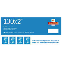 Second Class Postage Stamps Pack of 100 SDN2