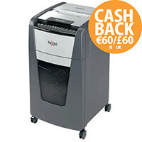 Rexel Optimum AutoFeed+ 300M Shredder - 300 sheets of A4 paper, P-5 micro cut (2x15mm), 60L Capacity Bin, Anti-Jam Technology - Shreds credit cards, Staples and Paper Clips - Colour: Black 2020300M