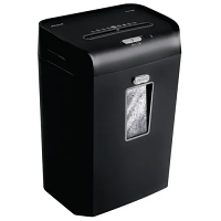 Rexel Promax QS 10-35 Cross-Cut Shredder - Compatible with A4 Sheets, P-4 Din Security Level, 15 Run Time, Quiet Operation - Colour: Black 2104585