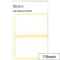 Blick White 50x80mm Label (280 Labels)