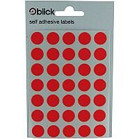 Blick Label Bag 13mm Red 20 x 140 Labels (2800 in Total) RS004554