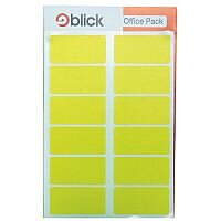 Blick Colour Label Flat Pack 25x50mm Yellow 20 x 16 Labels (320 in Total) RS020158