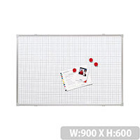 Franken Grid Board ValueLine 90x60cm Lacquered Steel RT2802
