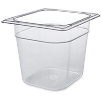 Rubbermaid 1/6 Size 150mm 2.4L Gastronorm GN Food Pan For Cold Food Clear