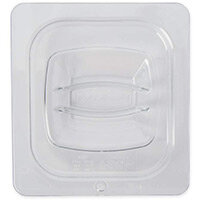 Rubbermaid 1/6 Size Gastronorm Hard Cover with Peg Hole For Cold Food Clear