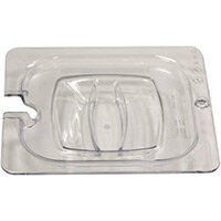 Rubbermaid 1/6 Size Gastronorm Notched Hard Cover For Cold Food Clear