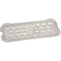 Rubbermaid Products 1/3 Size Cold Food Pan Drain Tray Clear