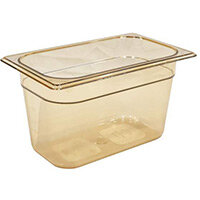Rubbermaid 1/4 Size 150mm 3.8L Gastronorm GN Food Pan For Hot Food Amber