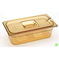 Rubbermaid 1/3 Size 100mm 3.8L Gastronorm GN Food Pan For Hot Food Amber