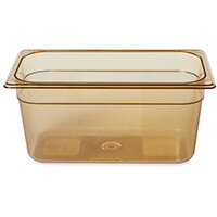 Rubbermaid 1/3 Size 150mm 5.1L Gastronorm GN Food Pan For Hot Food Amber