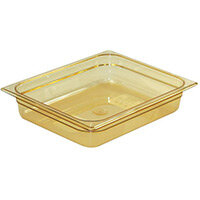 Rubbermaid 1/2 Size 65mm 3.8L Gastronorm GN Food Pan For Hot Food Amber