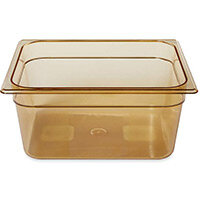 Rubbermaid 1/2 Size 150mm 8.8L Gastronorm GN Food Pan For Hot Food Amber