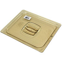 Rubbermaid 1/2 Size Gastronorm Hard Cover with Peg Hole For Hot Food Amber