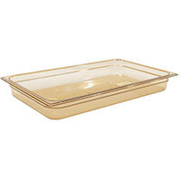Rubbermaid 1/1 Size 65mm 8.5L Gastronorm GN Food Pan For Hot Food Amber